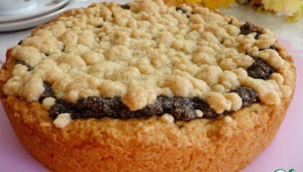 Маковый пирог со штрейзелем