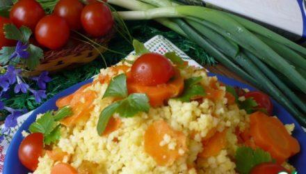 Ароматная пшенка с морковью и луком