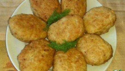 Зразы с луком и плавленым сыром