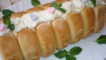 Десерт из печенья савоярди и банана