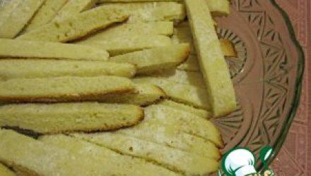 Нежные сахарные палочки-коржики