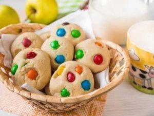 Оригинальное печенье с конфетами M&M's