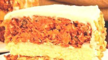 Торт из моркови с сыром филадельфия